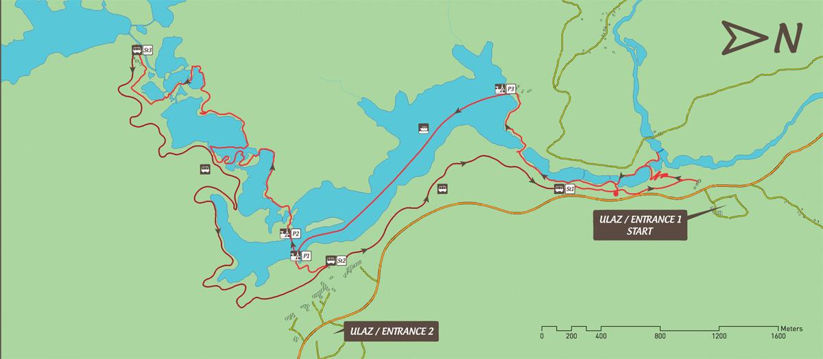 Mapa de la ruta C, una de les rutes intermèdies.