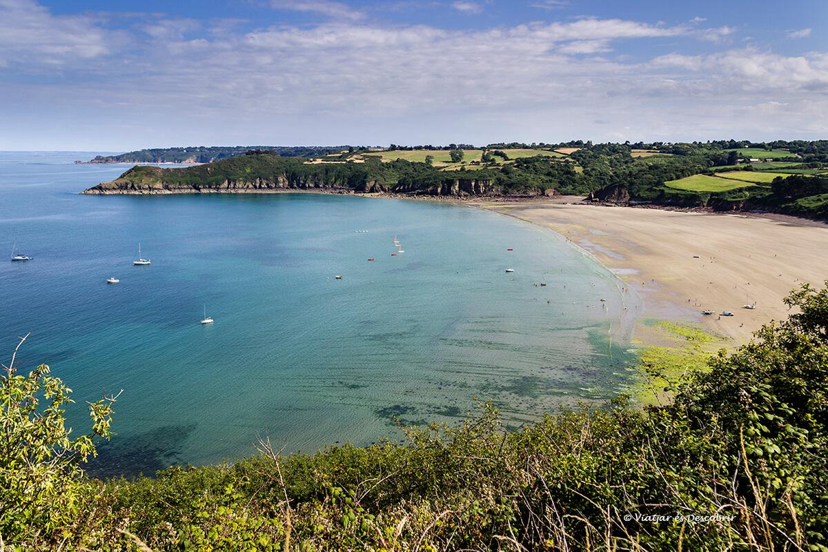 costa bretanya francesa amb bicicleta vista panoramica