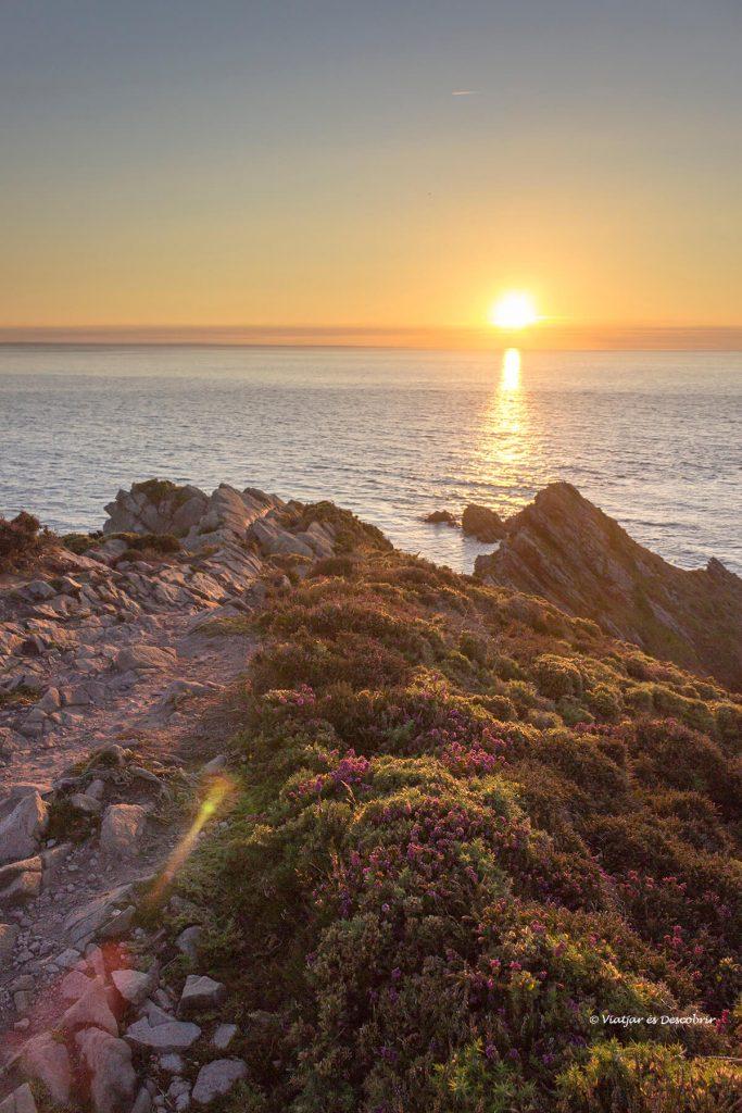cap Erquy posta de sol a la bretanya francesa