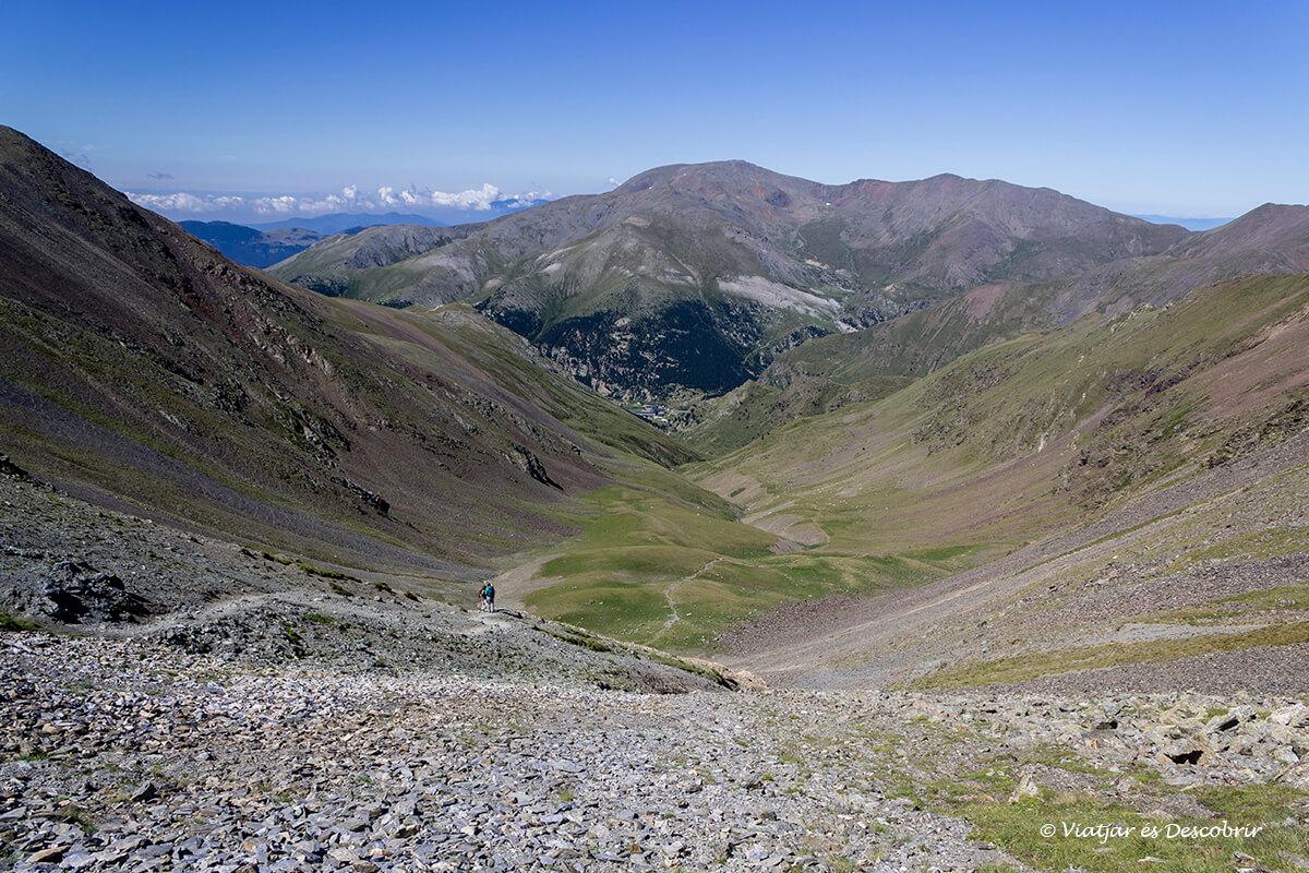 vista des del coll de noucreus vall de nuria
