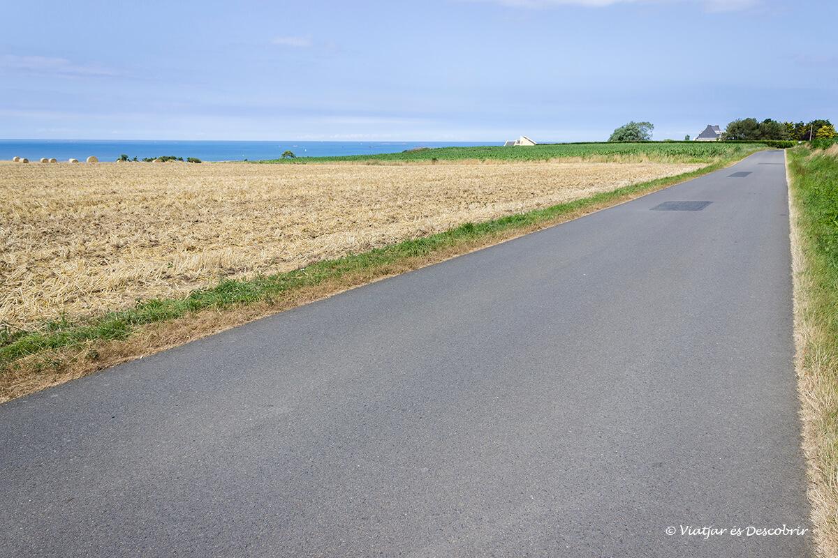 carril bicicleta litoral bretanya francesa