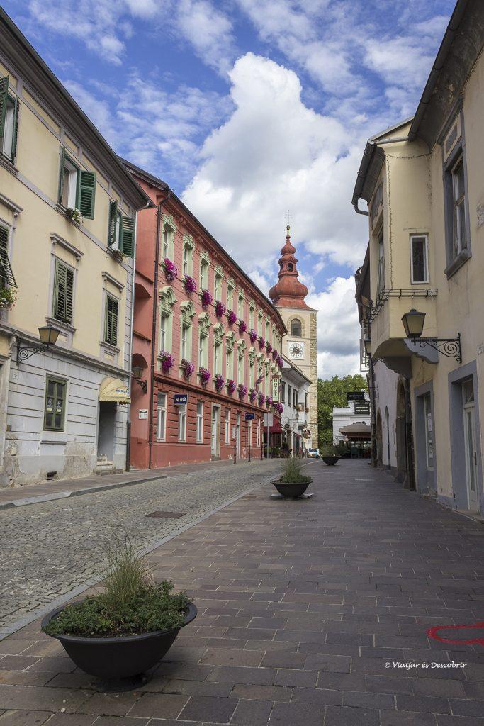 carrers historics de la ciutat de ptuj a eslovenia