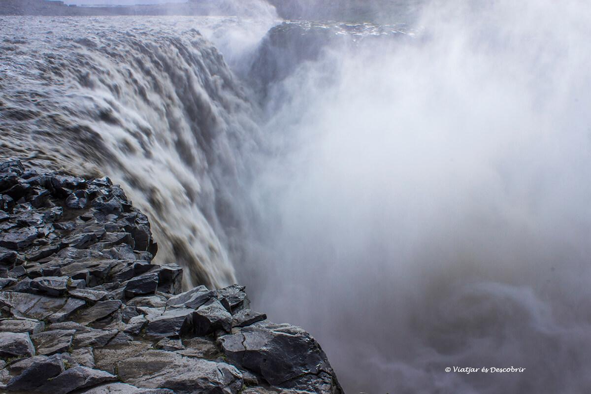 la Dettifoss és la cascada d'Islàndia més potent