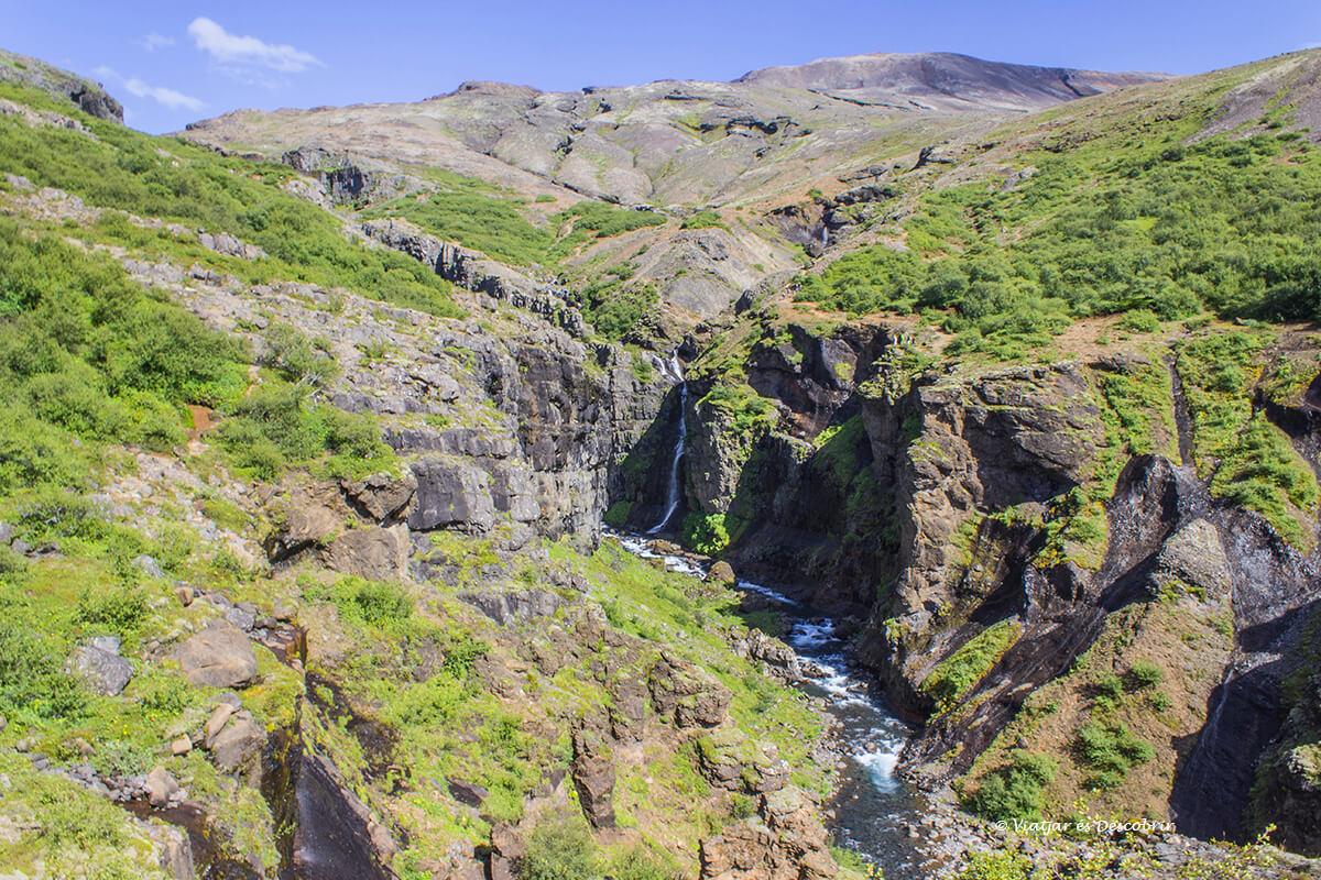 la cascada Gylmur a Islàndia