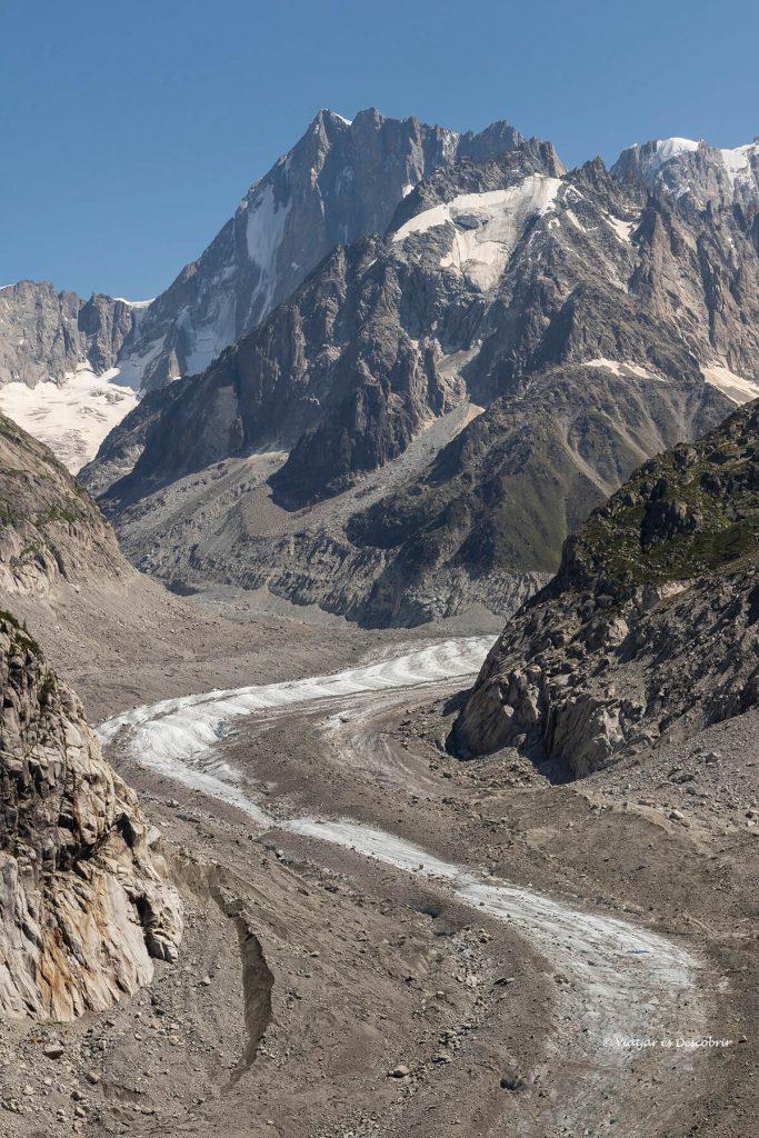 el mar de glace a prop de chamonix durant el viatge als alps francesos