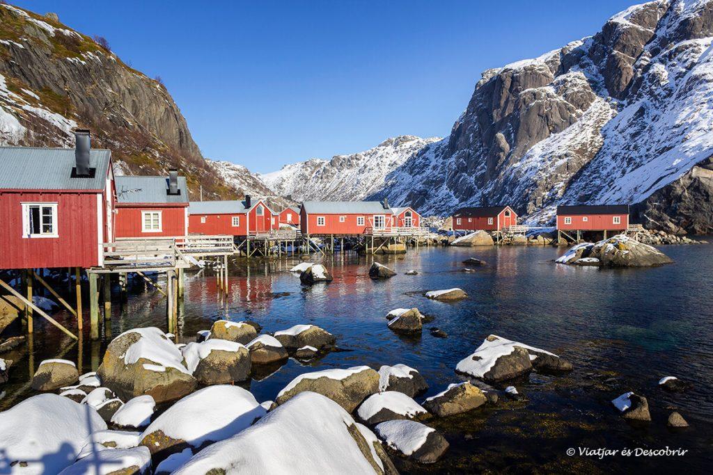 hivern a Nusfjord a les illes lofoten amb cotxe
