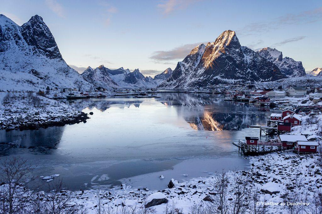 panoramica del poble de reine a l'hivern