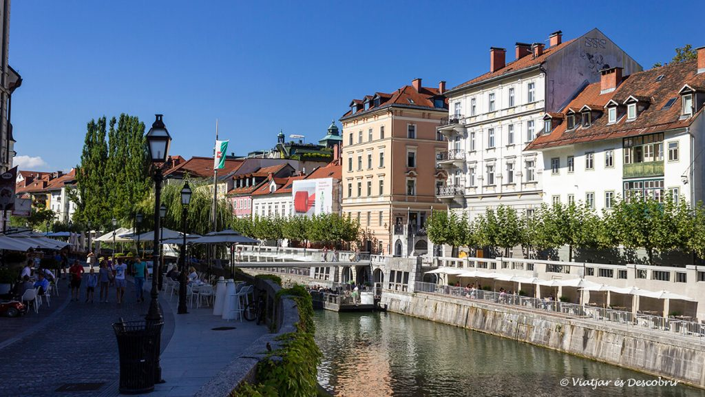 carrers propers al mercat central de la capital d'eslovènia