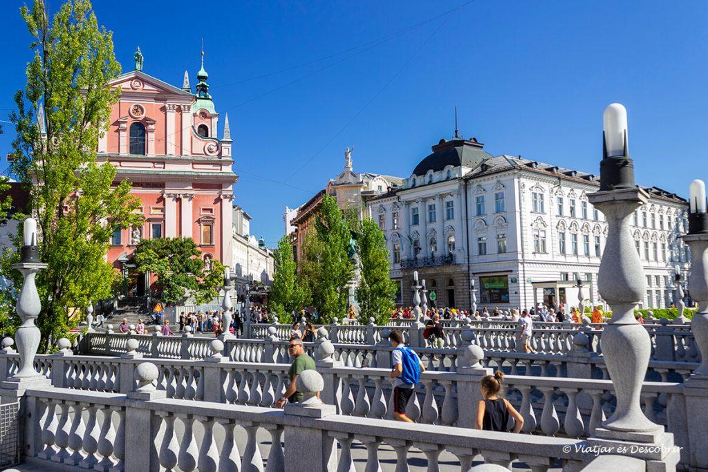 el pont triple al centre de la capital de eslovenia