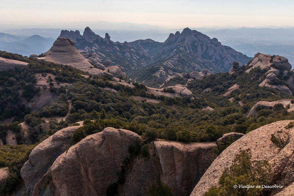 panoramica des del cim de sant jeroni